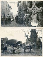 11 - Servies En Val - Depart Du Courrier - Avenue De Lagrasse - Croix Du Debes - Carte Double Palau - Diligence - France