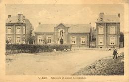 Oleye (Waremme). Chaussée Et Maison Communale. - Borgworm