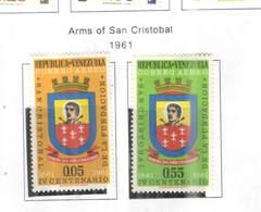 Venezuela PA 1961 San Cristobal    Scott.774+775 See Scans On Scott.Page - Venezuela