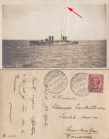 """ARMOURED CRUISER / INCROCIATORE CORAZZATO """" SAN MARCO """" - ITALIAN POST In CONSTANTINOPLE - 26 APR 1913 (ab623) - Guerre"""