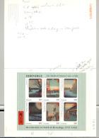 Guyana #3189-3191 Hiroshige Art M/S Of 6 & 2v S/S Imperf Chromalin Proofs - Guyana (1966-...)