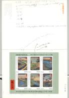 Nevis #1004-1006 Hiroshige Art M/S Of 6 & 2v S/S Imperf Chromalin Proofs - St.Kitts And Nevis ( 1983-...)