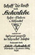 Original-Werbung/ Anzeige 1946 - HOHENLOHE HAFER-FLOCKEN / SCHÜLE HOHENLOHE - PLÜDERHAUSEN - Ca. 50 X 80 Mm - Werbung