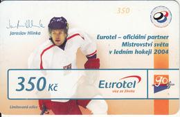 CZECH REPUBLIC - Hockey/Jaroslav Hlinka, Eurotel Prepaid Card 350 Kc, Exp.date 01/01/07, Used - Czech Republic