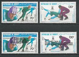 DJIBOUTI Scott C190-C191, C196-C197 Yvert PA195-PA196, PA200-PA201 (4) ** Cote 7,80 $ 1984 - Djibouti (1977-...)