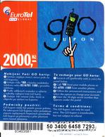 CZECH REPUBLIC - Eurotel Prepaid Card 2000 Kc(small Barcode), Used - Czech Republic