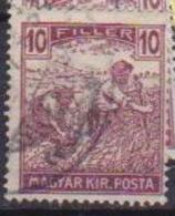 UNGHERIA  1920-23  ORDINARIA MAGYAR KIR.POSTA YVERT. 288 USATO VF - Ungheria