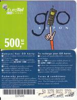 CZECH REPUBLIC - Eurotel Prepaid Card 500 Kc(large Barcode), Used - Czech Republic