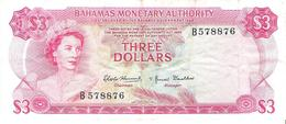 Bahamas - Pick 28a - 3 Dollars 1968 - F+ - Bahamas