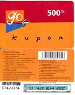 CZECH REPUBLIC - Eurotel Prepaid Card 500 Kc(small Barcode), Used - Czech Republic