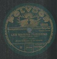 """78 Tours - ALBERT HUARD  - POLYDOR 522660  """" LES MARINS PARISIENS """" + """" VALSE-CARESSE  """" - 78 T - Disques Pour Gramophone"""