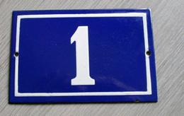 Plaque En Tôle émaillée N° 1 - Emailschilder (ab 1960)