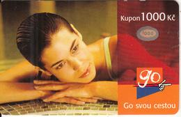 CZECH REPUBLIC - Girl, Eurotel Prepaid Card 1000 Kc, Used - Czech Republic