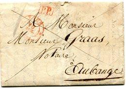 Luxembourg - Lettre Préphilatélie De LUXEMBOURG EICH P.P. 1834 Vers AUBANGE - Luxembourg
