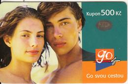 CZECH REPUBLIC - Couple, Eurotel Prepaid Card 500 Kc, Used - Czech Republic
