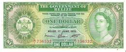 Belize - Pick 33b - 1 Dollar 1975 - XF - *RARE* - Belize