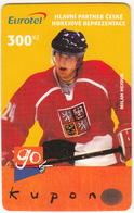 CZECH REPUBLIC - Hockey/Milan Hejduk, Eurotel Prepaid Card 300 Kc, Used - Czech Republic