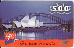 CZECH REPUBLIC - Sydney Opera House/Australia, Eurotel Prepaid Card 500 Kc, Used - Czech Republic