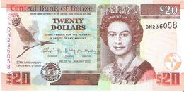 Belize - Pick 72 - 20 Dollars 2012 - Unc - Commemorative - Belize