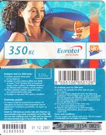CZECH REPUBLIC - Girl On Phone, Eurotel Prepaid Card 350 Kc(small Barcode), Exp.date 31/12/07, Used - Czech Republic