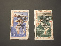 MAURITANIE - P.A. 1962 MALARIA/UCCELLI 2 VALORI, Soprastampati - NUOVI(++) - Mauritania (1960-...)