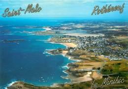 ILE ET VILAINE SAINT MALO VUE AERIENNE DES QUARTIERS DU MINIHIC ET ROTHENEUF (scan Recto-verso) KEVREN0532 - Saint Malo