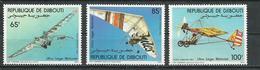 DJIBOUTI Scott C193-C195 Yvert PA197-PA199 (3) ** Cote 5,00 $ 1984 - Djibouti (1977-...)