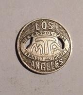 TOKEN JETON GETTONE TRASPORTO TRANSIT LOS ANGELES METROPOLITAN M.T.A. ONE  FARE - Monetari/ Di Necessità