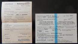 WW2 AUSWEISS LAISSEZ PASSER POUR PDG FRANCAIS ET BELGES QUI TRAVAILLENT 1943 - 1939-45