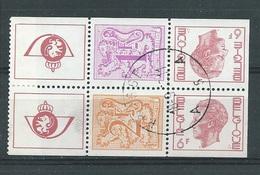 België   Zegels Uit Postzegelboekje  OBC   1897e + 1898b  + 1900b (O) - Carnets 1953-....