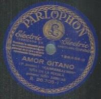 "78 Tours - NINA DE LA PUEBLA  - PARLOPHON 129656  "" AMOR GITANO "" + "" ES LA GUITARRA MORUNA "" - 78 T - Disques Pour Gramophone"