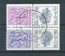 België   Zegels Uit Postzegelboekje  OBC   1897d + 1899a  (O) - Carnets 1953-....