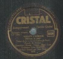 """78 Tours - JEAN NOËL  - CRISTAL 5858  """" VIVONS L'AMOUR """" + """" POUR SA PAYSE """" - 78 T - Disques Pour Gramophone"""