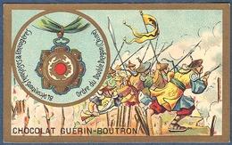 Chromo Chocolat Guerin-Boutron Décorations Françaises Et étrangères Chine Ordre Du Double Dragon Chinois Tsai Tien 1881 - Guerin Boutron