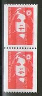 Paire N° 2819**-2819a**_N° Rouge En Gomme Brillante - 1989-96 Marianne Du Bicentenaire