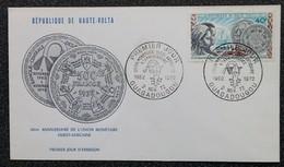 HAUTE-VOLTA - FDC 1972 - YT N°278 - Union Monétaire Ouest-africaine - Upper Volta (1958-1984)