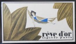 ANCIEN CALENDRIER DE POCHE RÊVE D'OR PARFUM L.T PIVER PARIS 1935 1936 - Calendars