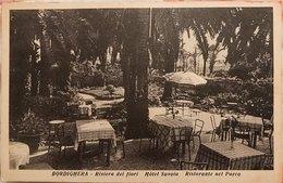 Bordighera (Imperia) Riviera Dei Fiori Hotel Savoia Ristorante Nel Parco - Italien