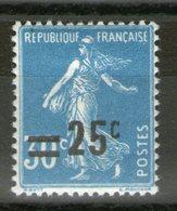 N° 217 IIA*_surcharge Déplacée Vers Le Haut_tres Bon Centrage - 1906-38 Semeuse Camée