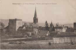 Héricourt- La Tour D'espagne, L'église Catholique Et Le Temple - Other Municipalities