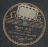 """78 Tours - GUS VISEUR  - COLUMBIA 2770  """" SWING VALSE """" + """" FLAMBEE MONTALBANAISE """" - 78 T - Disques Pour Gramophone"""