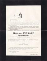 14-18 Médaille De La Reine Elisabeth Floré LOGE épouse EVERARD Avec Croix Rouge 1873-1935 Namur JEMELLE - Avvisi Di Necrologio