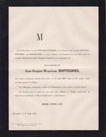 LIEZELE PUURS Jean-Jacques DOFFEGNIES 84 Ans 1883 Famille Van Der STRATEN-PONTHOZ PUERS - Avvisi Di Necrologio