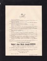 DIEST Hubert Jean DIERCKX Chanoine De L'ordre De La Sainte Croix Natif De Turnhout 1867-1937 Mort à Diest - Avvisi Di Necrologio