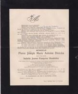TURNHOUT Burgemeester Pierre Joseph DIERCKX Veuf Isabelle HENDRICKX 1828-1911 Député Ancien Notaire - Avvisi Di Necrologio