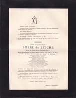 BARVAUX-CONDROZ Henri BOREL De BITCHE époux FEARON-AINLEY Diplomate Belge Président LE BON GRAIN 1893-1953 Lausanne - Avvisi Di Necrologio