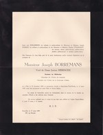 HAL UCCLE Justine HERINCKX épouse Joseph BORREMANS 1855-1939 Docteur En Médecine Faire-part En 2 Volets - Avvisi Di Necrologio