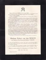 UCCLE Madeleine CASSIERS épouse Robert Van Den BOSCH 33 Ans 1937 Famille De CRANE D'HEYSSELAER - Avvisi Di Necrologio