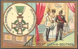 Chromo Chocolat Guerin-Boutron Décorations Françaises Et étrangères Ordre D'Albert Le Valeureux Saxe Chevalerie - Guerin Boutron