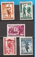 1940  408-12 POSTA TELEGRAPH   JUGOSLAVIJA JUGOSLAWIEN KOENIGREICH MNH - 1931-1941 Regno Di Jugoslavia